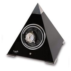Allurez Rapport London Evo Pyramid Single Watch Winder in Wood, 2... ($325) ❤ liked on Polyvore featuring home, home decor, jewelry storage, white wooden jewellery box, black white home decor, white home decor, wood watch winder and black home decor Wooden Clock, Wooden Jewelry Boxes, White Home Decor, Jewelry Storage, White Houses, Black House, Evo, Wood Watch, Wood Projects