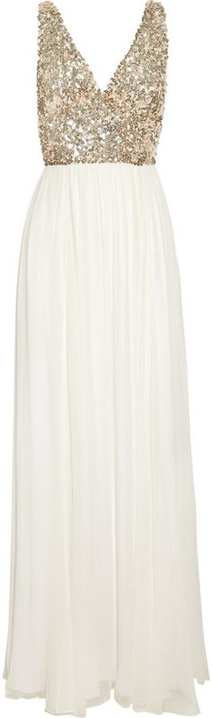 Aria sequined silk-chiffon gown / Rachel Gilbert