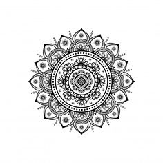 Circular Pattern In Form Of Mandala For Henna & Tattoo Decoration Mandala Art Lesson, Mandala Painting, Mandala Drawing, Mandala Tattoo Sleeve, Mandala Tattoo Design, Circular Pattern, Mandala Pattern, Pattern Flower, Mandela Flower Tattoo