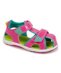 Loving this Hot Pink Discovery Runner Sandal on #zulily! #zulilyfinds
