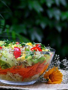 Salata cu germeni Acai Bowl, Menu, Vegetarian, Restaurant, Breakfast, Food, Salads, Menu Board Design, Twist Restaurant