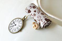 Statement Skull Textile Choker Beaded Fabric Fiber Art Jewelry Bridesmaid Embroidery Jewelry Cream Copper Handmade Accessories