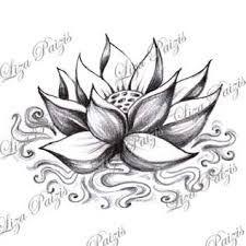 """Résultat de recherche d'images pour """"fleur de lotus dessin"""""""