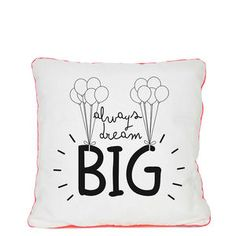 Ver el producto Outlet, Dream Big, Really Cool Stuff, Cushions, Throw Pillows, Nice Things, Cotton, Stuff To Buy, Frames