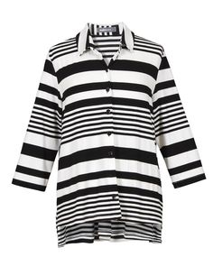 19183c2cd11af Alembika Alembika Button Down Big Tee In B&W Stripe. Button Downs. Shady  and Katie ...