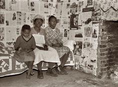 Quilt. Interior. Gee's Bend Alabama, 1937. Photograph by Arthur Rothstein.