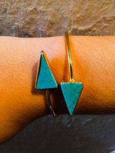 Turquoise Triangle Cuff Bracelet