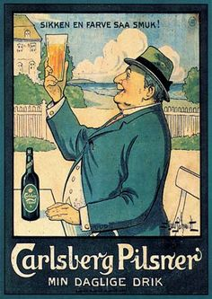 Tuesday's ad is for Carlsberg, from the 1920s or 30s, I think. It was done by…