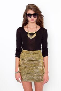 Perfect for UCF! ;) gold skirt black shirt