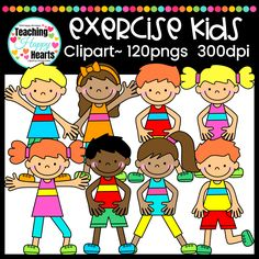 Exercise Kids Clipar