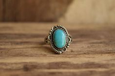 Turquoise Ring  Bell Trading post Vintage Ring  Sterling