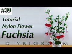 Nylon stocking flowers tutorial #39, How to make nylon stocking flower step by step - YouTube