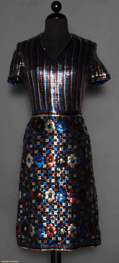 Trevise Sequin Dress, Paris, 1960s