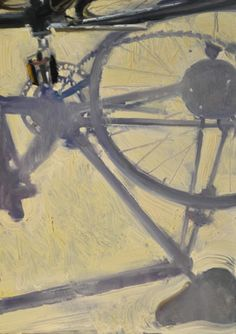 Duane Keiser, Bike Shadow from his blog (a painting a day).