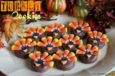Turkey Cookies on MyRecipeMagic.com are so cute. The kids love to make these! #turkey #cookies