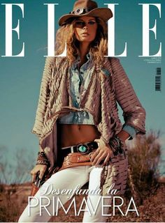 "shoots ""chic cowgirl"" in the ELLE Spain magazine Marsh issue468 x 635 | 44.6 KB | www.bkrw-denim.com"