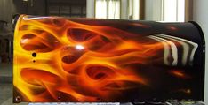 images of cars painted with flames | Custom Painting | George and Sons Autobody