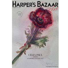 Bazaar Art cover  featuring Celia Paul's 'Anemone' artwork