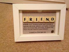 Friend Scrabble Art by CraftyAmaze on Etsy                                                                                                                                                                                 More
