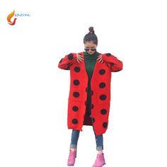 2017 New Autumn Winter Cardigan Loose Keep warm Women Sweater Coat Thicken Knit Medium long Women Coat Winter clothing G1226