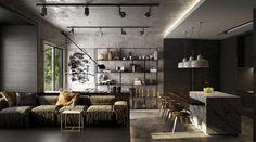 Великолепные квартиры с черными стенами