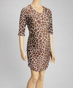 Another great find on #zulily! Brown Giraffe Maternity Sheath Dress #zulilyfinds