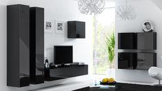nowoczesne czarne meble do minimalistycznego wnętrza VIGO