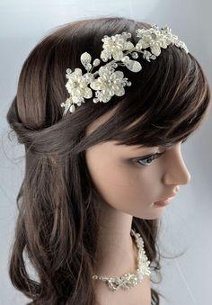 Vintage Crystal Bridal Wedding Ivory Cream от TheCrystalShoeCo