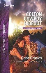 4 stars for Colton Cowboy Hideout & a q&a with author Carla Cassidy http://purejonel.blogspot.ca/2016/07/colton-cowboy-hideout-q-with-author.html
