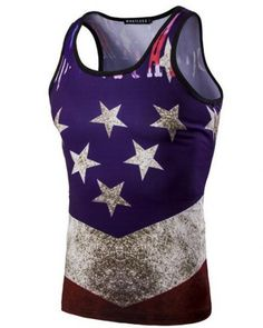 American Eagle Flag 4th of July Muscle Workout T-Shirt Bodybuilding Tank Top Breathable Workout Fitness Sport Vest