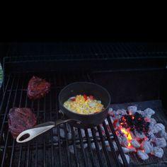 Filet Minion and southwest corn
