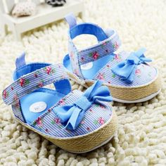 7c2284f4802e0 2015 New Baby Girls Soft-soled Shoes Summer Toddler Flower Sandals Children  Cotton With Bow First Walkers Months