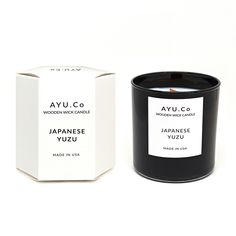 Japanese Yuzu Wooden Wick Candle
