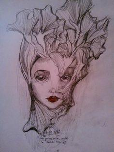 #pensamientos #ilustración a lápiz #sentimientos #mujer #femenino #femme fatale #goodbyedoll #sracandykiller