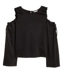 Open-shoulder party top.   Party in H&M