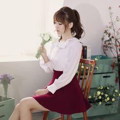 Flounced collar long-sleeved shirt - AddOneClothing - 8