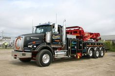 Western Star with 75 ton rotator Show Trucks, Big Rig Trucks, Western Star Trucks, Towing And Recovery, Logging Equipment, Busse, Rigs, Rat Rods, Weights