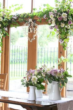 Wedding Flower Arrangements - Upwaltham Barns, flowers by Spriggs Florist Wedding Venues Uk, Beautiful Wedding Venues, Barn Weddings, Rustic Wedding Flowers, Wedding Flower Arrangements, Wedding Decor, Wedding Ideas, Upwaltham Barns, Country Garden Weddings
