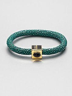 Fendi Stone Accented Stingray Leather Bangle Bracelet. someone help me find it!