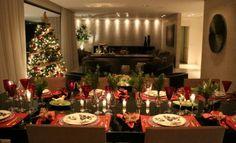 Sala - Decoração de Natal e Mesa
