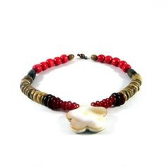 SURFER STYLE PET NECKLACE RED