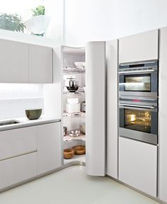 Pics Corner Cabinet of Enchanting Tall Corner Kitchen Unit Decor Tips White Kitchen That Inspirating Tall Corner Kitchen Cabinet Corner Pantry Cabinet, Corner Kitchen Pantry, Kitchen Pantry Design, Luxury Kitchen Design, Modern Kitchen Cabinets, Home Decor Kitchen, Kitchen Furniture, Kitchen Interior, Home Kitchens