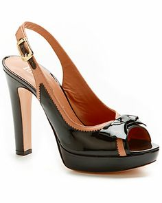 RED Valentino Patent & Leather Sandal