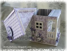 My Craft and Garden Tales: New house - 3D paper house box