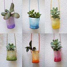 Journey into Creativity: Air dry clay mini pots
