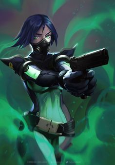 ArtStation - Viper from Valorant Fanart, Eva Solo Fantasy Characters, Female Characters, Fictional Characters, Character Costumes, Game Character, Vi League Of Legends, Hero Games, Riot Games, Keys Art
