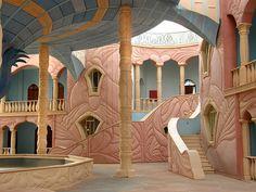 The Willy Wonka-like interior of art centre at Neot Semadar Kibbutz
