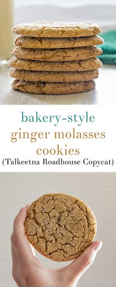 Bakery Style Ginger Molasses Cookies | Homan at Home