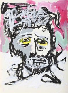 """This original work titled """"Man 001"""" is 30x42 cm in oil stick & acrylic on paper (90 gr.). It was made in June 2016 in Spain and is signed and dated on the back. It will ship carefully rolled up in ..."""