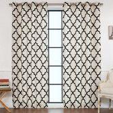 Found it at Joss & Main - Kayla Moroccan Print Semi-Opaque Grommet Curtain Panel Pair